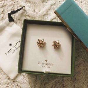 ♠️ Kate Spade ♠️ Rose Gold Mini Bow Earrings
